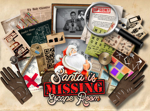 Santa is Missing! Printable Escape Room Kit