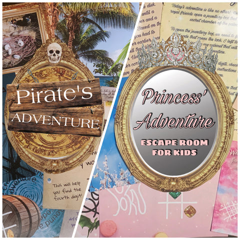 Pirates VS Princesses Party Pack | Printable Escape Room Package - Mystery Locks