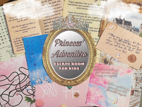 Princess' Adventure | Escape Room for Kids | Printable Escape Room Kit - Mystery Locks
