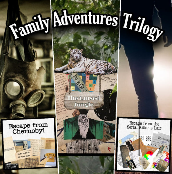 Family Adventures Trilogy | Printable Escape Room Package - Mystery Locks