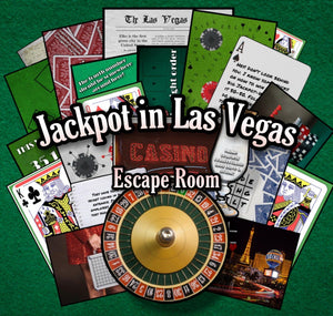 Jackpot in Las Vegas Printable Escape Room Kit