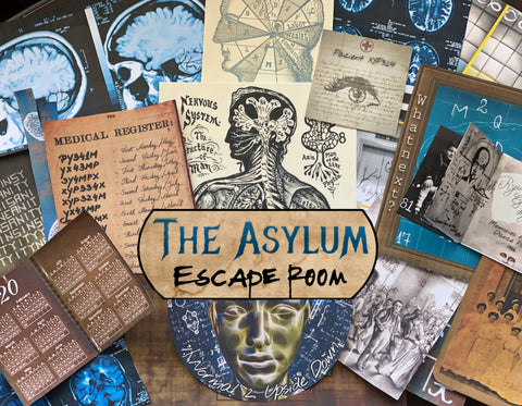 The Asylum | Printable Escape Room Kit - Mystery Locks