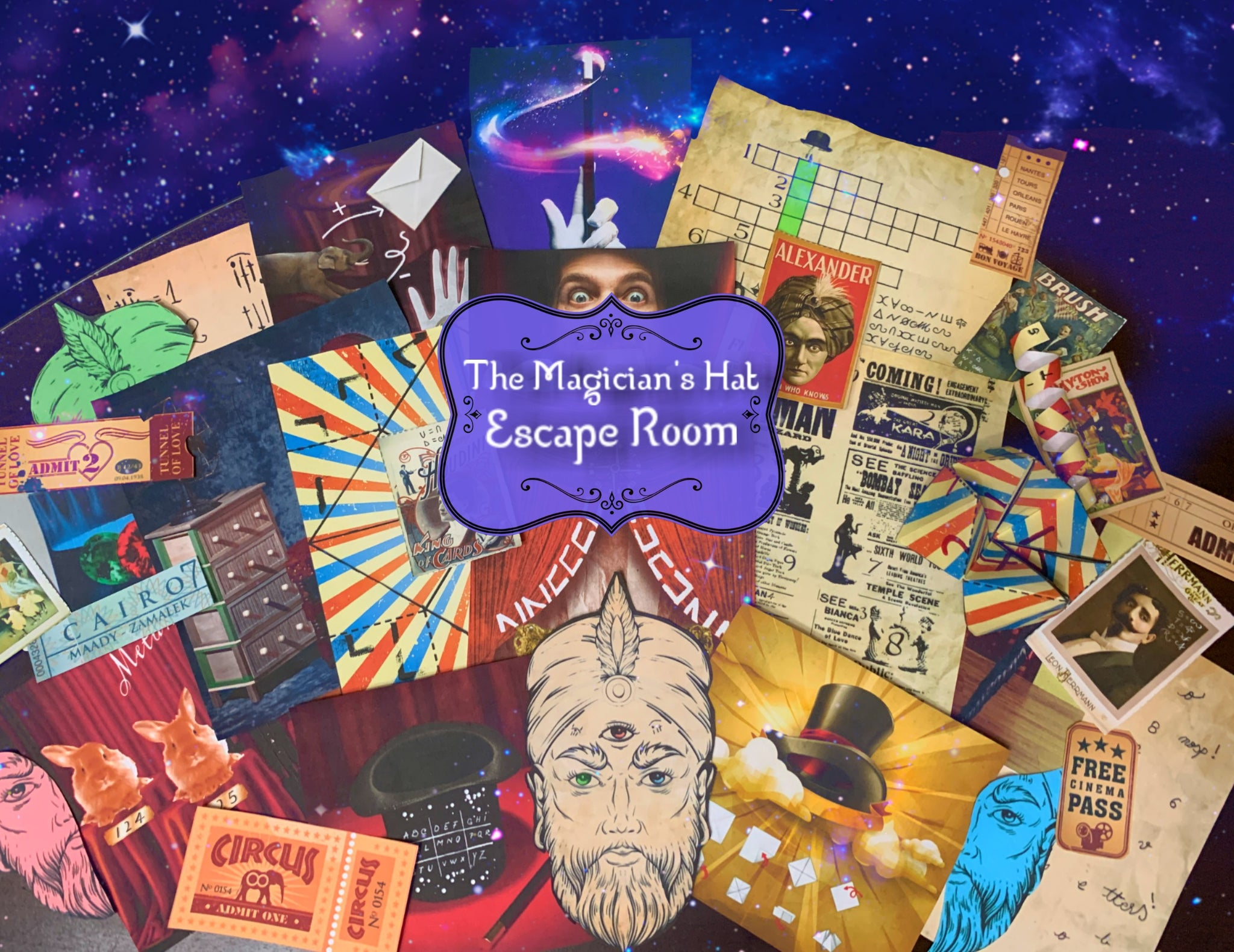Magician's Hat Printable Escape Room Kit