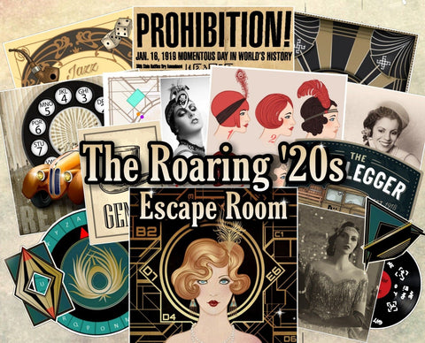 The Roaring '20s Printable Escape Room Kit