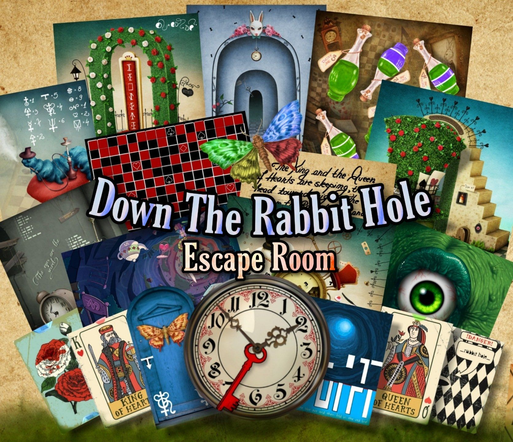 Down The Rabbit Hole Printable Escape Room Kit