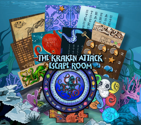 The Kraken Attack Printable Escape Room Game for Kids