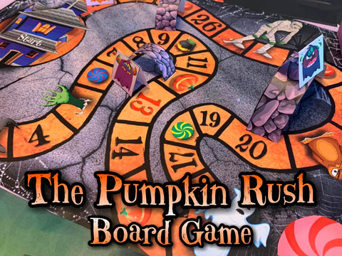 Pumpkin Rush Printable Halloween Board Game