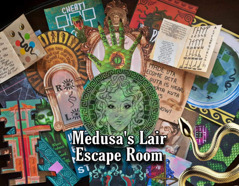 Medusa's Lair | Printable Escape Room Kit - Mystery Locks