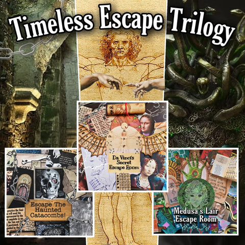 Timeless Escape Trilogy | Printable Escape Room Package - Mystery Locks