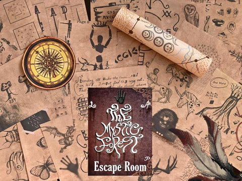 The Mystic Forest Printable Escape Room Kit | Printable Escape Room Game | Escape Room Game | Escape Room Kit | Printable Family Game | Print and Play