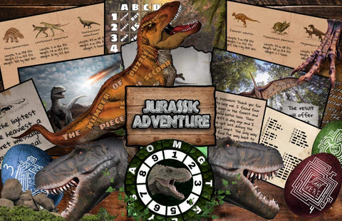 Jurassic Adventure Printable Escape Room Kit for Kids