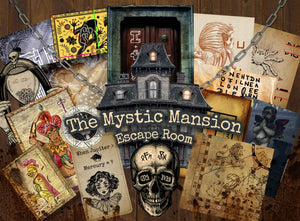 The Mystic Mansion Printable Escape Room Kit