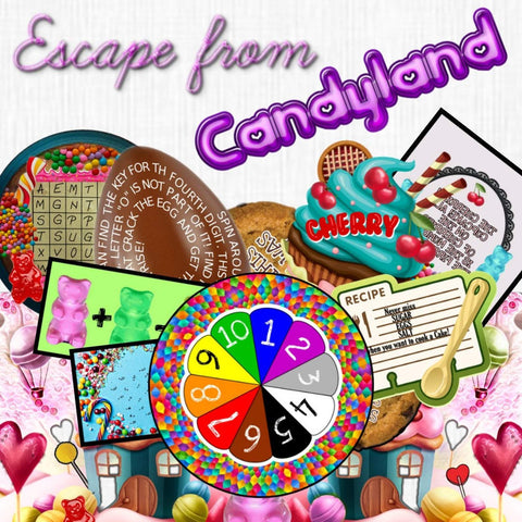 Candyland Printable Escape Room Kit for Kids