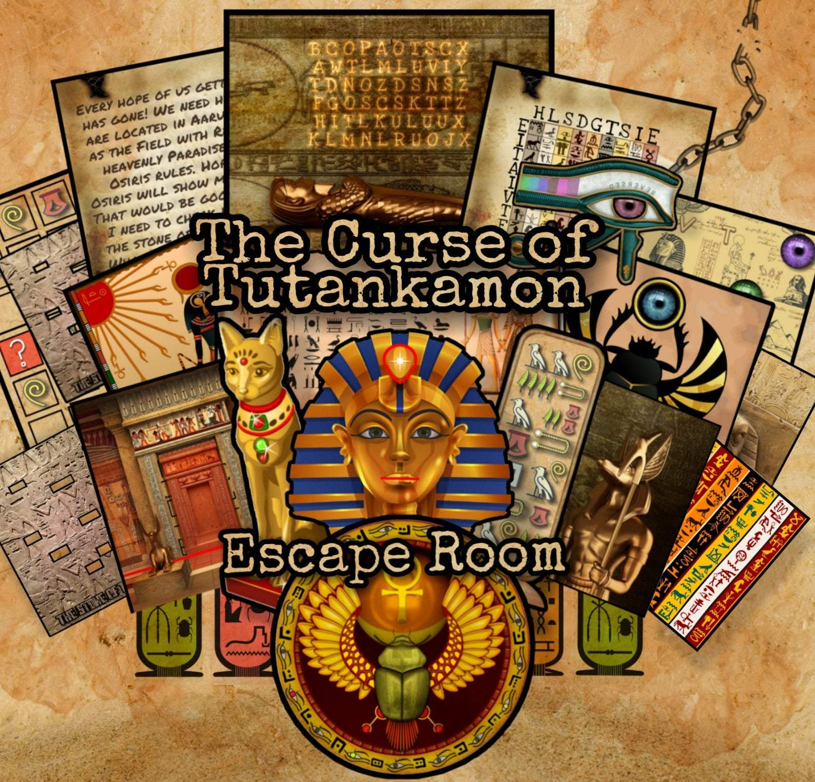 The Curse Of Tutankamon Printable Escape Room Kit
