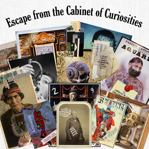 The Cabinet of Curiosities | Printable Escape Room Kit - Mystery Locks