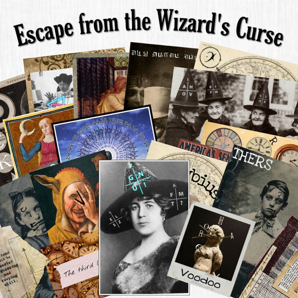 Wizard's Curse | Printable Escape Room Kit - Mystery Locks