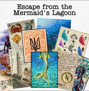 Mermaid's Lagoon | Printable Escape Room Kit - Mystery Locks