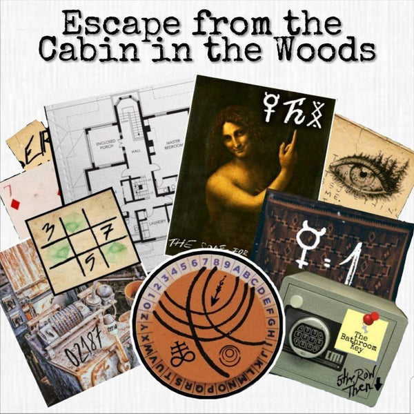 The Cabin In The Woods | Printable Escape Room Kit - Mystery Locks