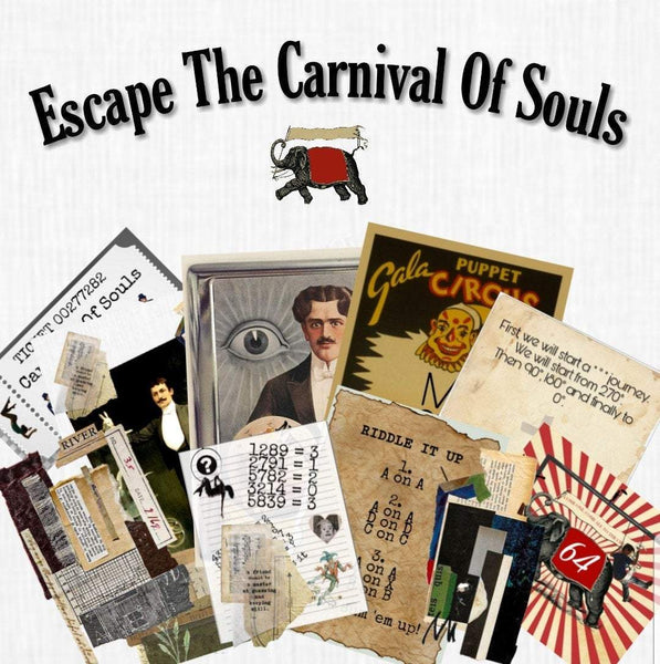 The Carnival of Souls | Printable Escape Room Kit - Mystery Locks