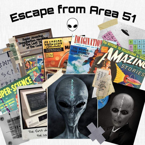 Area 51 | Printable Escape Room Kit - Mystery Locks
