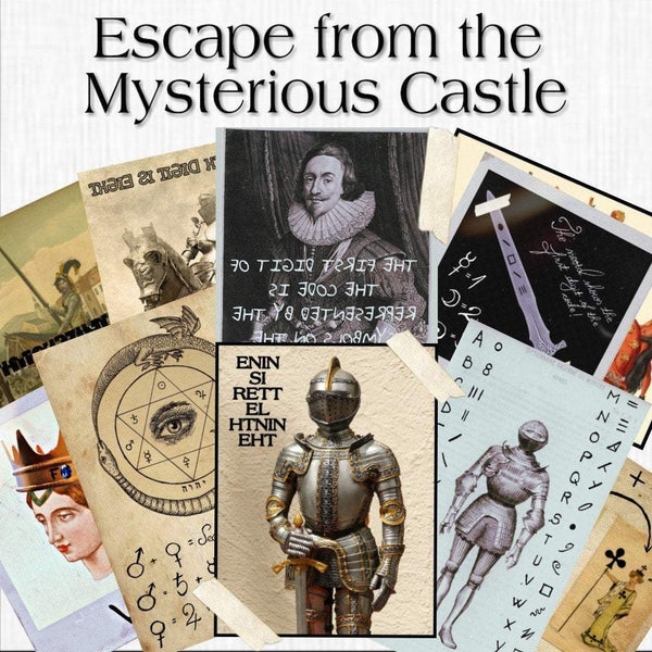 Mysterious Castle | Printable Escape Room Kit - Mystery Locks
