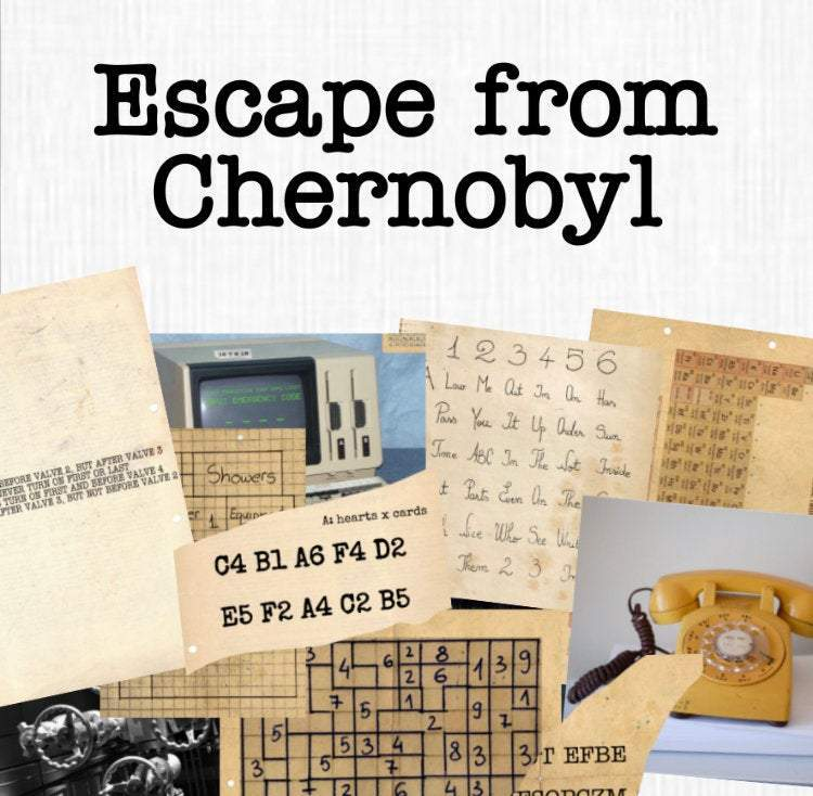Chernobyl | Printable Escape Room Kit - Mystery Locks