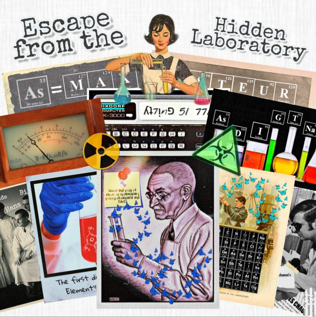 Hidden Laboratory | Printable Escape Room Kit - Mystery Locks