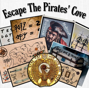 Pirates' Cove | Printable Escape Room Kit - Mystery Locks