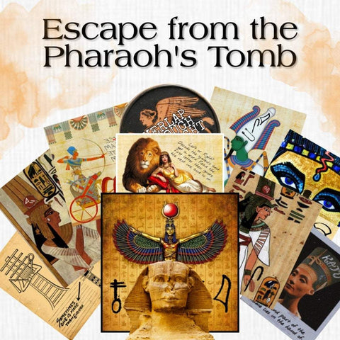 Pharaoh's Tomb | Printable Escape Room Kit - Mystery Locks