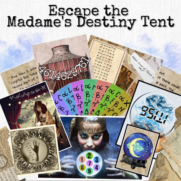 The Madame's Destiny Tent | Printable Escape Room Kit - Mystery Locks