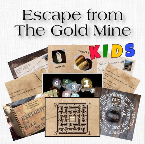 Gold Mine | Escape Room for Kids | Printable Escape Room Kit - Mystery Locks