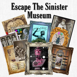The Sinister Museum | Printable Escape Room Kit - Mystery Locks