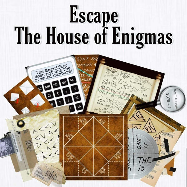 The House of Enigmas | Printable Home Escape Room Kit - Mystery Locks