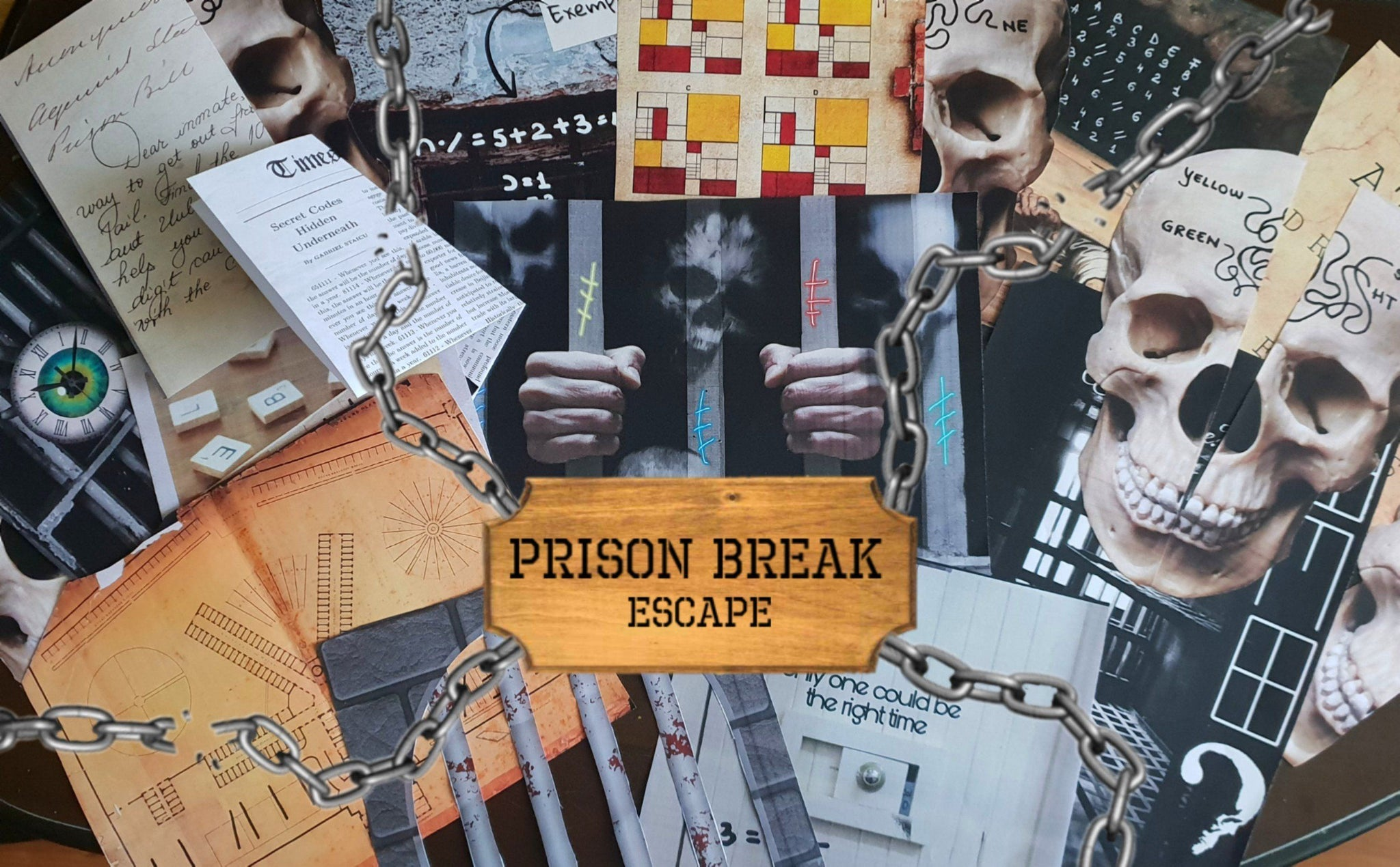 Prison Break Escape | Printable Escape Room Kit - Mystery Locks
