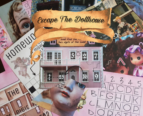 Escape The Dollhouse | Printable Escape Room Kit - Mystery Locks