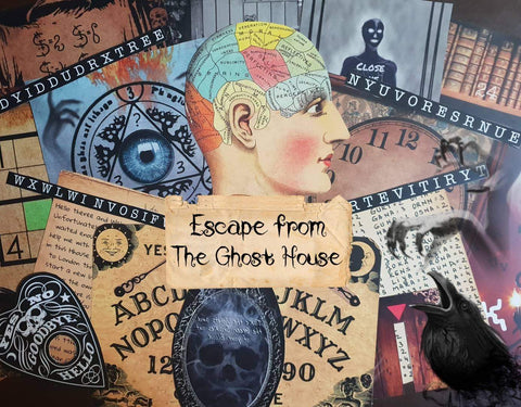 The Ghost House | Printable Escape Room Kit - Mystery Locks