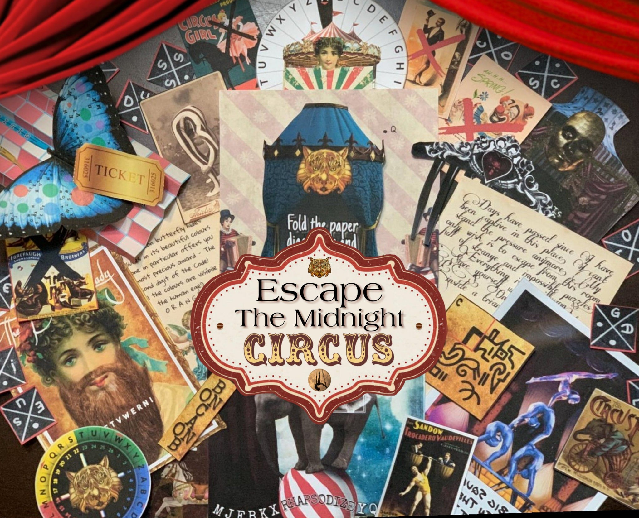 Escape The Midnight Circus | Printable Escape Room Kit - Mystery Locks