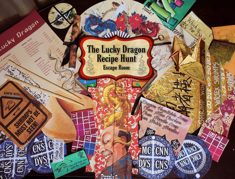 The Lucky Dragon Recipe Hunt | Printable Escape Room Kit - Mystery Locks