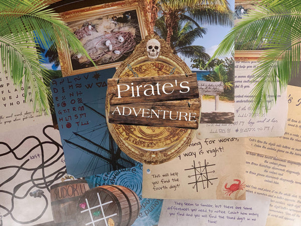 Pirate's Adventure | Escape Room for Kids | Printable Escape Room Kit - Mystery Locks