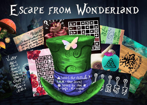 Escape from Wonderland | Escape Room for Kids | Printable Escape Room Kit - Mystery Locks
