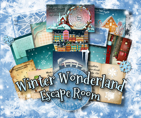 Winter Wonderland Printable Escape Room Kit for Kids