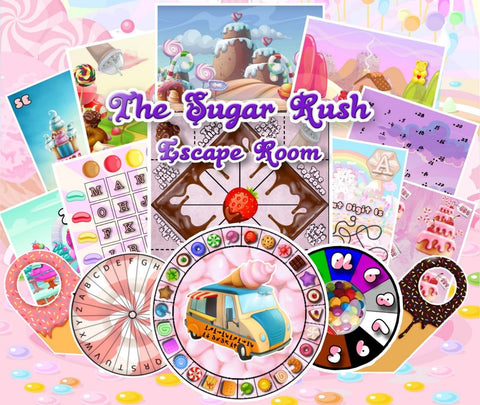 Sugar Rush Printable Escape Room Kit for Kids