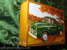 Load image into Gallery viewer, Autumn Green Original painting on cigar box
