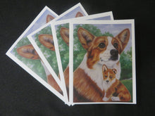 Load image into Gallery viewer, Corgi and Pup Note Card