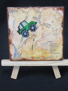 Jeep Off-Roading on map - Mini Canvas