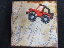 Load image into Gallery viewer, Jeep Off-Roading on map - Mini Canvas