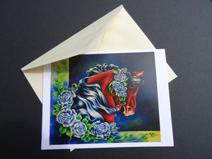 Midnight Rose Note Card