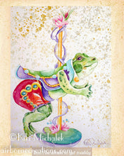 Load image into Gallery viewer, Muddy Frog Carousel Note Card
