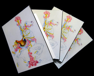 Romace Carousel Note Card