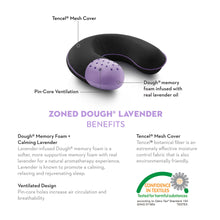Load image into Gallery viewer, TRAVEL NECK ZONED DOUGH® LAVENDER PILLOW